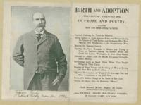 Advertisement for 'Birth and Adoption' a book by Patrick 'Rocky Mountain' O'Brien, n.d.