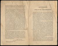 Address of the Council of the Fenian Brotherhood given by John Savage, Chief Executive, September 29, 1870