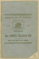 Address to the Knights of St. Patrick given by Samueal Sullivan Cox, March 1889