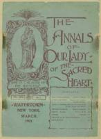 The Annals of Our Lady of the Sacred Heart', March 1903