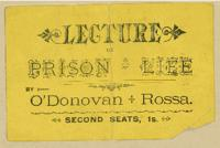 Admission to J. O'Donovan Rossa lecture, n.d.