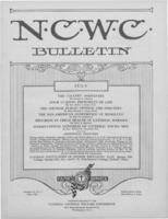 National Catholic Welfare Council Bulletin, July 1927