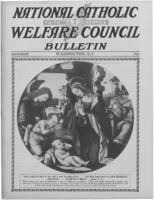 National Catholic Welfare Council Bulletin, December 1921