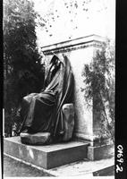 Adams Memorial by Augustus Saint-Gaudens located in Rock Creek Cemetery