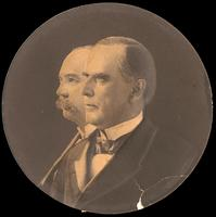 Portrait of President William McKinley, and Vice President Garrett A. Hobert