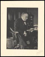President William McKinley working at his desk