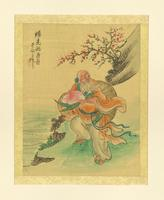 Untitled (Color Print on Silk, Possibly Depicting Shou Xing)