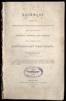 An argument before the Committee of the House of Representatives, upon the petition of Benedict Fenwick and others, with a portion of the documentary testimony by Richard S. Fay (1835)