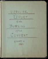Ursuline report of the burning of the convent, August 11, 1834