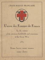 """Union des Femmes de France"" Battlefield and Cemetery Guidebook, 1920"