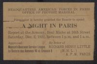 Invitations/Clippings 1918-1923