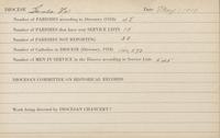Card File: General Summary of Diocesan Reports as of 5/1/1919: Santa Fe-Winona