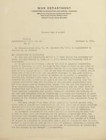 Administrative Memo (U.S. War Department: Committee on Education and Special Training), 1918