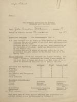 W, Surveys, Memoranda, 1918